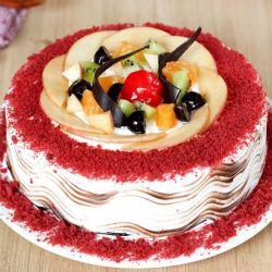 Velvet with Fruit Topping - 1Kg