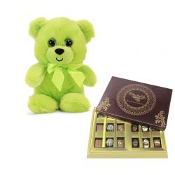 Father Teddy with Chocolates
