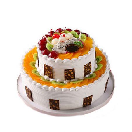 2 Tier Fruit Cake - 3 kg