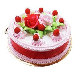 Strawberry Eggless Cake  -...