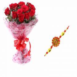 Red Rose n Rakhi