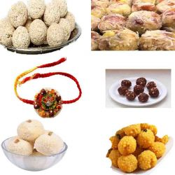 6 Types of Ladoo with Rakhi