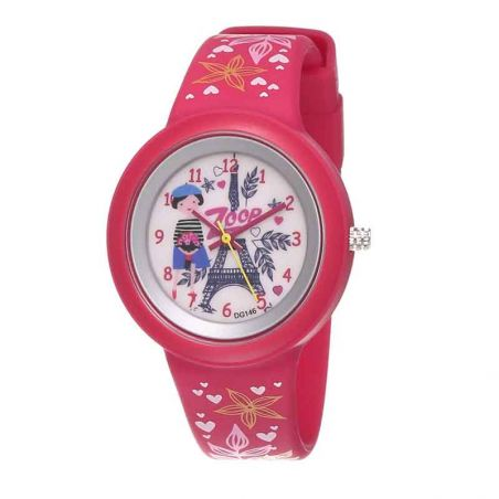Travel White Dial Red Zoop Watch