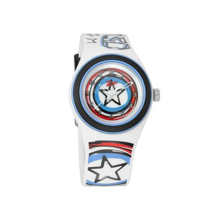 Captain America White & Blue Dial Analog Watch