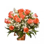 18 Orange Roses Bunch