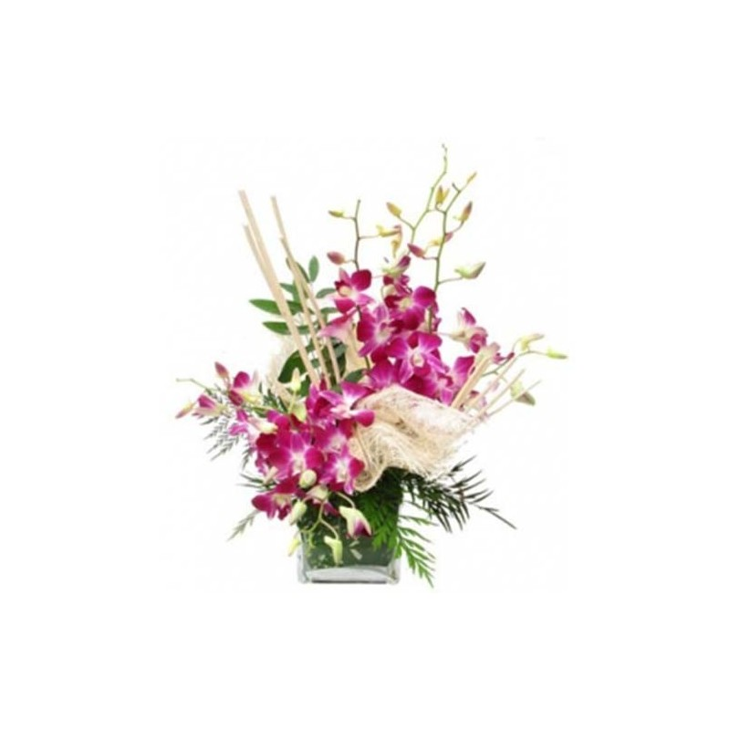 10 Orchids Vase Roses Carnation Gerberas Orchids Lillies