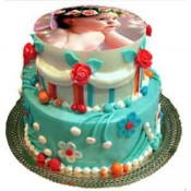 4Kg Personalized 2Tier Photo Cake