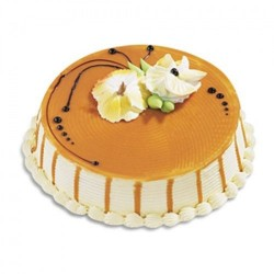 Butterscotch Eggless Cake 1 kg (Bake Craft)