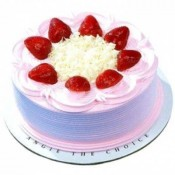 Strawberry Cake 1 kg (Aryaas Bakery)