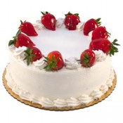 Strawberry Eggless Cake (Blaack Forest Bakery)