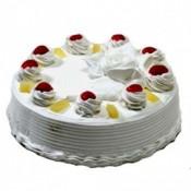 Pineapple Eggless Cake (Blaack Forest Bakery)