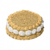 Butter Scotch Eggless Cake (Blaack Forest Bakery)