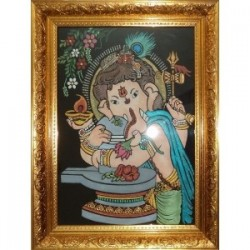 Vinayagar Holding on Lord Shiva