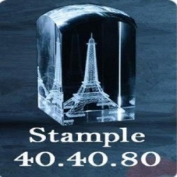 3D Crystal Image Size: 40*40*80