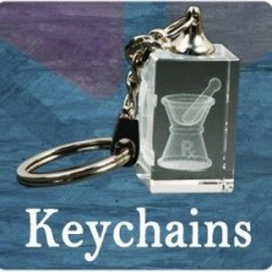 3D Crystal Rectangle Key Chain
