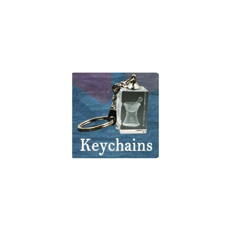 3D Crystal Rectangle Key Chain