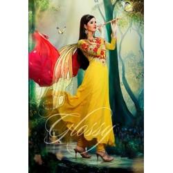 Beautiful yellow Anarkali  Suit