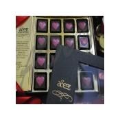 Chocolate hearts-16 Pc