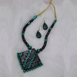 Dark Green Terracotta Jewel