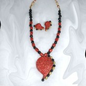 Maroon Terracotta Jewel