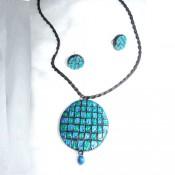 Light blue Terracotta Jewel