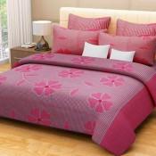 Pink Floral Bed Sheet