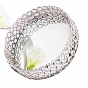 Round shaped Dry Fruit Tray with Mirror