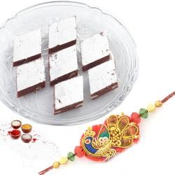 Rakhi with Chocolate Barfi