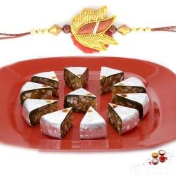 Rakhi with kaju diamond sweets