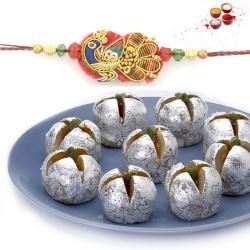 Rakhi with kaju anarkali sweets