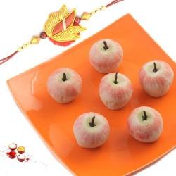 Rakhi with kaju Apple sweets
