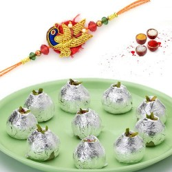 Rakhi with kaju kalash sweet