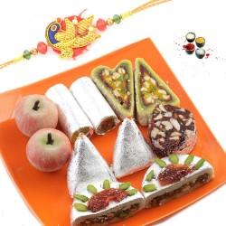 Rakhi with kaju mix sweets