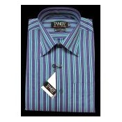Blue and Green Lining Tangy Full Shirt