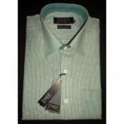 Green Linen Base Tangy Shirt