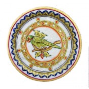 Marble Decorative Parrot Plate