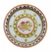 Marble Decorative Elephant Plate