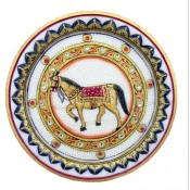 Marble Decorative Horse Plate