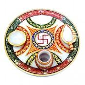 Marble Puja Thali