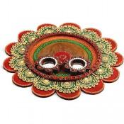 Multicolor Pooja Thali