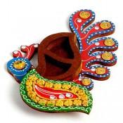 Peacock Design Kumkum Chopra