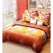 Orange and yellow Bedsheet