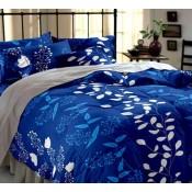 Blue Floral Bedsheet