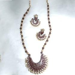 Trendy Brown Terracotta jewel
