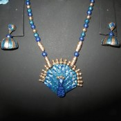 Superb Blue Terracotta jewel