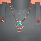 Perfect Green n Red Terracotta jewel
