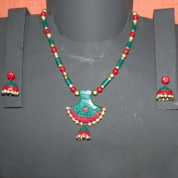 Perfect Green n Red Terracotta jewel