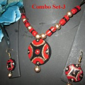Combo set of 3 terracotta jewel piece