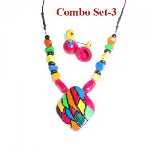 Combo set of 3 terracotta jewel piece