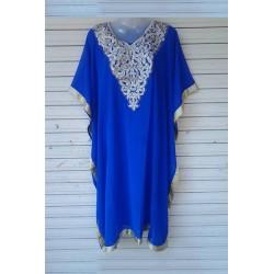 Royal Blue Designer Chiffon Kaftan